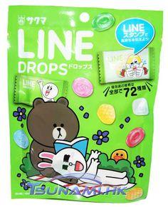 Sakuma LINE & Friends Assorted Fruit Mix Drops Candy Bag