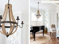 Wood Wine Barrel Chandelier from Shades of Light | The Lettered Cottage