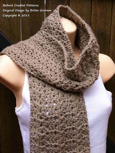 Crochet patron foulard  écharpe au Crochet par bubnutPatterns