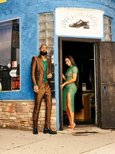 black love nipsey hussle and lauren london standing in the doorway of a store Couple Style, Couple Goals, Family Goals, Black Love Couples, Cute Couples, Romantic Couples, Black Couple Art, Power Couples, Black Art