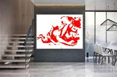 Nude painting Portraits Nude art Naked body painting image 0 Modern Wall Decor, Modern Art, Dinning Room Wall Art, Colorful Artwork, Extra Large Wall Art, Office Wall Art, Texture Art, Body Painting, Painting Portraits