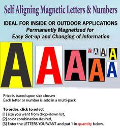 Self Aligning Magnetic Letter Card Custom Order