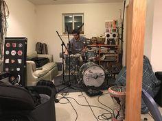 The Bell Hours album #3 is now under way. Tate Ignelzi on drums.  #thebellhours #recorderklaus #denvermusicscene #coloradomusic