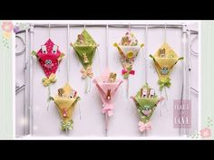 """""""Aquiloni"""" in feltro porta cioccolatini facili & senza cucire - YouTube Felt Art, Fabric Art, Holiday Crafts, Scrapbooking, Party Favors, Diy And Crafts, Projects To Try, Birthdays, Gadgets"""