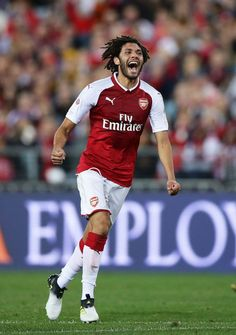 Mohamed El Neny Photos - Mohamed Elneny of Arsenal celebrates scoring a goal during the match between the Western Sydney Wanderers and Arsenal FC at ANZ Stadium on July 2017 in Sydney, Australia. - Western Sydney v Arsenal Arsenal Football, Arsenal Fc, Matt King, As Roma, Soccer World, Old Boys, Westerns, Celebrities, July 15