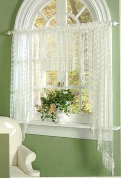 Three Piece Valance Set-lace curtains,3 piece valance set,curtains,romantic decorating,shabby,cottage chic,victorian style,window treatments,window lace
