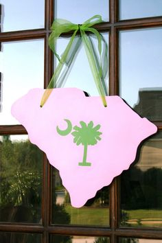 South Carolina State Shape Door Decor Hand cut & by southernwhimzy, $30.00