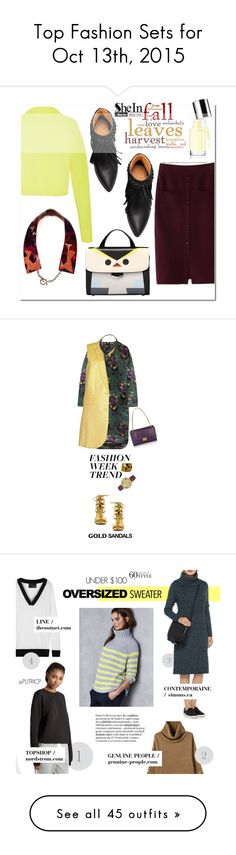 """Top Fashion Sets for Oct 13th, 2015"" by polyvore ❤ liked on Polyvore featuring TIBI, Fall, FallColors, Marni, Veronique Branquinho, Pink Mascara, Emilio Pucci, Caravelle by Bulova, Shoe Republic LA and fashionWeek"