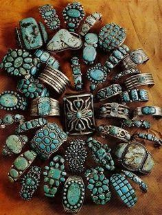 ☮ American Hippie Bohéme Boho Style Jewelry ☮ Turquoise