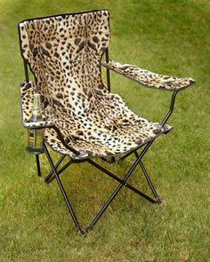 Shop Leopard-Print Folding Chair at Horchow, where you'll find new lower shipping on hundreds of home furnishings and gifts. Animal Print Furniture, Animal Print Decor, Animal Prints, Lightweight Folding Chair, Leopard Chair, Leopard Animal, Cheetah Print, Leopard Prints, Tiger Print