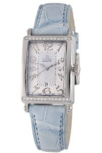 Gevril Women's 7249NT.3 White Mother-of-Pearl Genuine Alligator Strap Watch