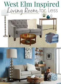 WestElm Inspired Living Room for Less