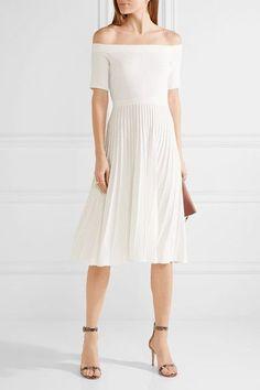 White stretch-knit