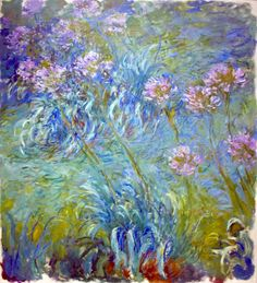 Shop Claude Monet Agapanthus Fine Art Floral GalleryHD created by GalleryHD. Art Floral, Monet Paintings, Impressionist Paintings, Artist Monet, Art Et Nature, Inspiration Art, Museum Of Modern Art, Oeuvre D'art, Canvas Art Prints