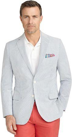 Fitzgerald Fit Seersucker Sport Coat