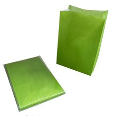 APPLE GREEN STANDING TREAT BAGS (12PK)