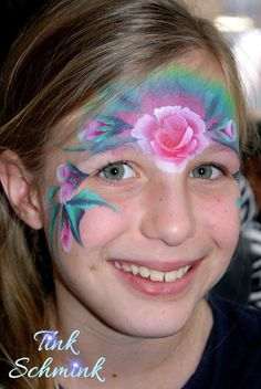 Face painting roses by Tink Schmink
