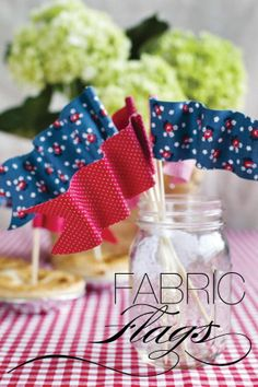 fabric flags - awesome decor idea for weddings - special touches!