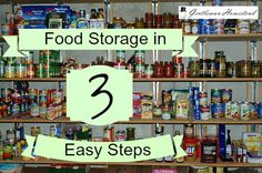 Green Thumb Thursday - Featuring Food Storage in 3 Easy Steps! Imperfectly Happy  #gardening #homesteading #foodstorage #prepping