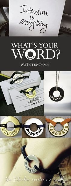 """🙌 Live with Intention! 🌟 Create a custom MyIntent bracelet with your WORD of intention. A mindful reminder of your goals, dreams, or what matters most.What's Your WORD?  20% off orders $50+, code: PARTNER. """"I really underestimated the power of my WORD on my wrist. It reminds me to stay in the moment [...] it is such a potent reminder."""" – L.H. Handstamped withlove in L.A since 2014. As seen on the Today Show and O, the Oprah Magazine. Jewelry Stamping, Metal Stamping, Stamped Jewelry, Craft Jewelry, Recycled Jewelry, Jewelry Ideas, Jewelry Supplies, Meaningful Conversations, My Intent Bracelet"""