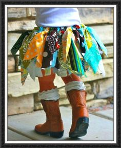 Cute handmade skirt. But those boots! Love them.