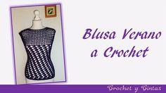 Blusa verano con puntos combinados a crochet para mujer – Parte 1 - YouTube
