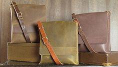 Leather Crossbody Messenger