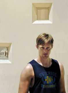 genetically modified moths should infiltrate his closet and eat the sleeves off every god damn thing he owns. For the greater good. Alexander Skarsgard