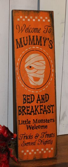 Mummy's Bed and Breakfast by TheGingerbreadShoppe on Etsy, $19.95