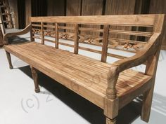 Teakhouten stationsbank 240cm Garden Furniture, Outdoor Furniture, Outdoor Decor, Indian Homes, Wood Square, Bench, Living Room, Architecture, Room Ideas