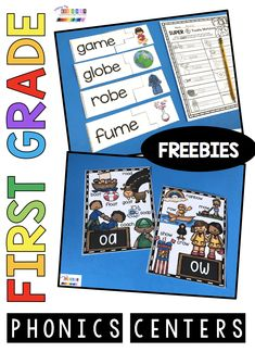 FREE Vowel team phonics activities for centers vowel teams activities phonics kindergarten and first grade vowel teams long vowels anchor chart posters printables literacy centers adding e to the end of words FREEBIES First Grade Phonics, Phonics Lessons, Kindergarten Freebies, Kindergarten Centers, Phonics Worksheets, First Grade Teachers, Alphabet Activities, Teaching Kindergarten, Primary Resources