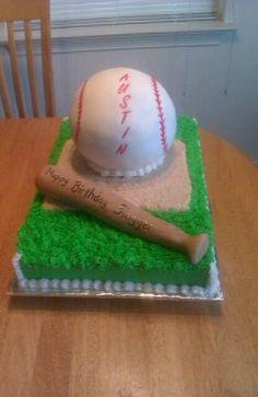 Baseball cake 16th Birthday Ideas For Girls, 10th Birthday Parties, Sweet 16 Birthday, 40th Birthday, Baseball Theme Cakes, Baseball Party, Sport Cakes, Cakes For Boys, Pretty Cakes