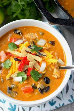 Chicken Enchilada Soup Recipe-Butter Your Biscuit