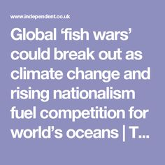 Global 'fish wars' could break out as climate change and rising nationalism fuel competition for world's oceans   The Independent