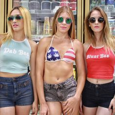 SQUAD. #MissMaryJaneGirls Shop these looks from our website! Link to purchase is below. We ship internationally and throw in free stickers with your purchase!✈✨ .•.•.•.•.•.•.•.•.•.•.•.•.•.•.•.•.•.•.•.•.•.•.•.•.•.•.•.•.•.•. \\ Look Good, Smoke Good. //✔️ www.MMJCO.com #MissMaryJaneCo #MissMaryJanesGlass #CannabisCouture #SmokeBoutique