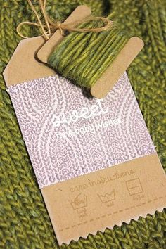 New Baby Gift Tag with Care Instructions by Heather Nichols for Papertrey Ink (November 2012)