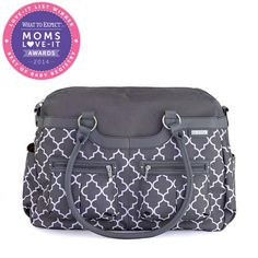 This prettily patterned JJ Cole Canvas Satchel Diaper Bag also has plenty of pockets, so moms made it an easy pick to win the Diaper Bag category.