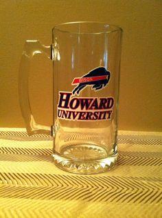 Howard University Beer Mug Game Room Basement, Howard University, How To Make Notes, Bars For Home, Party Gifts, I Shop, Etsy Seller, Man Caves, Alma Mater