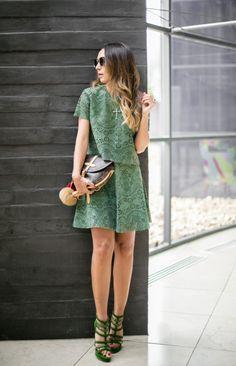 lala-noleto-cris-capoani-spfw-7 Matching Top And Skirt, Lala, Ideias Fashion, Shirt Dress, Skirts, Tops, Dresses, Style, Elegant