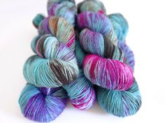 Superwash Merino/Nylon Sock Yarn 4ply Handdyed Yarn: THE MOON & BACK by WrenAndOllie on Etsy. Omg I'm in love! This yarn is freaking fantastic!!!