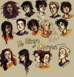 fanart for the heroes of olympus | the Heroes of Olympus by drakonarinka on DeviantArt