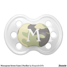 Monogram Green Camo   Pacifier for the little hunter in the family.