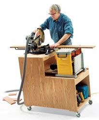 Combo Cart - The Woodworker's Shop - American Woodworker Woodworking For Kids, Woodworking Projects That Sell, Popular Woodworking, Woodworking Bench, Diy Wood Projects, Woodworking Shop, Woodshop Tools, Diy Workbench, Mobile Workbench