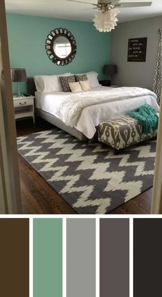 Creative ways to living room color design ideas 44 Next Bedroom, Blue Bedroom, Home Decor Bedroom, Bedroom Brown, Bedroom Wall, Warm Bedroom, Design Bedroom, Modern Bedroom, Diy Bedroom