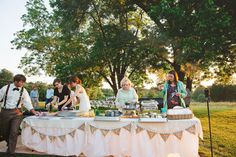 Rachel and Chase's charming 16 guest $1,650 backyard wedding. Photography by Stephanie Kaloi. See more.... @intimateweddings.com #backyardweddings #budgetwedding #reception