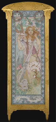 i cried when i saw this at the MET. never seen an original mucha before. maude adams as joan of arc - alphonse mucha