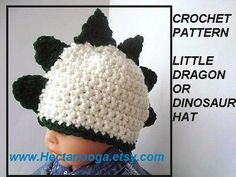380...NEW CROCHET PATTERN.... Little Dragon or by Hectanooga,