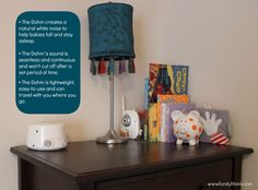 Here is the perfect place to put your Dohm white noise machine in your nursery!