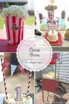 A Circus Theme: 1st Birthday Party for Baby Boy.