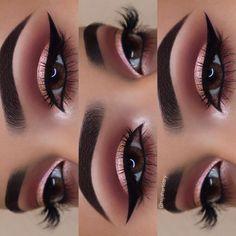 Gorgeous Makeup: Tips and Tricks With Eye Makeup and Eyeshadow – Makeup Design Ideas Eye Makeup Steps, Makeup Eye Looks, Skin Makeup, Eyeshadow Makeup, Rose Gold Makeup Looks, Rose Gold Eyeshadow, Easy Eyeshadow, Hand Makeup, Bridal Makeup